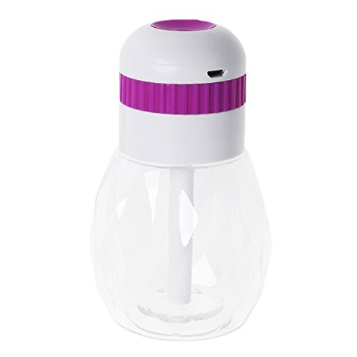 Price comparison product image Oranmay 230ml Mini USB Air Humidifier Oil Aroma Diffusers Mist Maker LED Night Light for Home Office Baby (Purple)