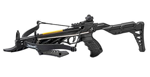 Isaazon 80lbs Black Self Cocking Hunting Crossbow 225+ FPS + 3pc Arrows Bow New