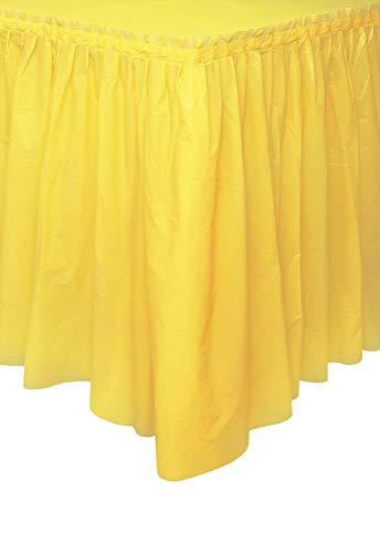Light Yellow Plastic Table Skirt, 29