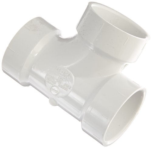 (Spears P400 Series PVC DWV Pipe Fitting, Sanitary Tee, 1-1/2