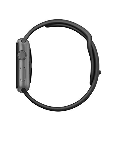 New Apple Watch Series 1 Smartwatch Space Gray Aluminum Case Black Sport Band