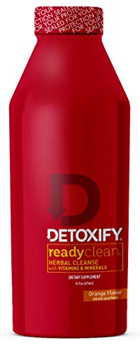 Detoxify Ready Clean Herbal Cleanse - Orange Flavor- 16 oz | Professionally Formulated Herbal Detox Drink | Enhanced with Milk Thistle Seed Extract & Burdock Root Extract (Best Weed Cleansing Drink)