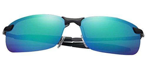 Fashion Tide Men Sunglasses ultraviolet Greenblue Cool Metal anti JYR HD Polaroid Sunglasses Driving Sunglasses 0Ywn4xd