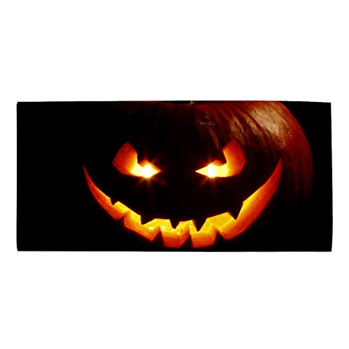 Halloween Creepy Pumpkin Candle Dish Towels, Ultra Absorbent, Heavy Duty, Drying & Cleaning, Everyday Kitchen Basic, Dishtowel 11.8 X 27.5 Inches]()