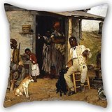 Artistdecor The Oil Painting Richard Norris Brooke - A Dog Swap Pillow Shams Of ,20 X 20 Inches / 50 By 50 Cm Decoration,gift For Study Room,bench,him,couples,monther,christmas (each Side)