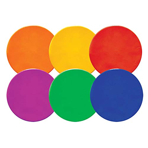 Champion Sports Poly Spot Markers, 10-inch - Set of 6, Multi-Color