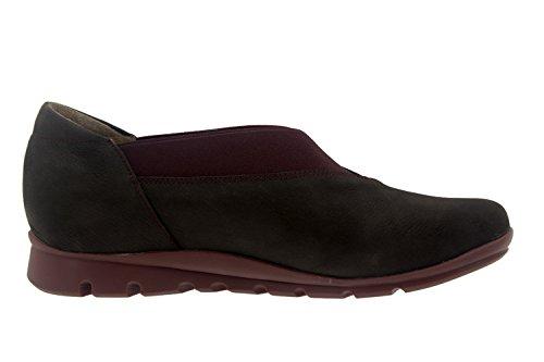 Calzado mujer confort de piel Piesanto 7530 zapato abotinado casual cómodo ancho Caoba