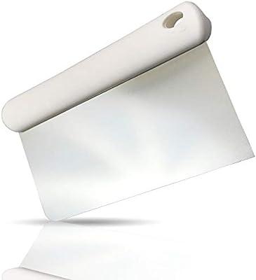 Kerafactum Teigschneider Teigschaber Teigspachtel zur Teigbearbeitung und als Teigabstecher Schlesinger aus Edelstahl 15 cm mit ABS Griff