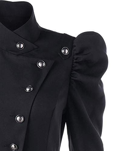 Gothique Classic Battercake Fashion Dame Manteau Coat Asymmetric Loisir Outerwear Trench Machaon Vintage Noble Femme Punk Printemps Schwarz Hiver Casual nRFxRPqY