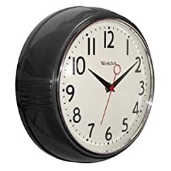 Westclox Genuine 9.5 Black Deep Wall Clock