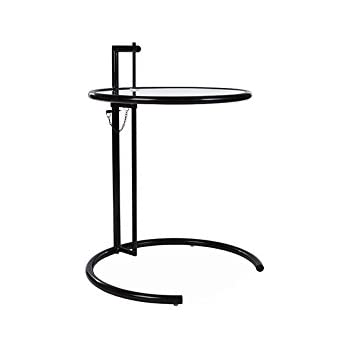 Eileen Gray Adjustable Table amazon com modway eileen contemporary modern metal and glass side