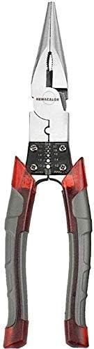 プライヤーツールプライヤーハンドツール多機能ワイヤープライヤーストリッパークリンパーカッター針ノーズニッパージュエリーツール対角8インチプロフェッショナルツール