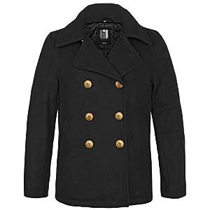 bw-online-shop Navy PEA Coat Marine Colani Manteau d'hiver – Noir – XXXX-Large