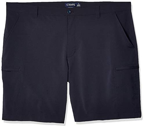 Chaps Men's Big and Tall Performance Cargo Short, American Navy ()