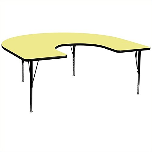 Bowery Hill 25.13'' Horseshoe Activity Table in Yellow