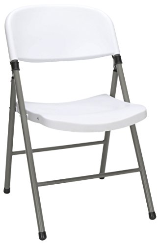 Essentials Multipurpose Plastic Folding Chair, White - 4 Pack (ESS-5000-WHT) (Banquet Tables And Chairs)