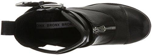 Bronx Dame Bx 1432 Bkirkx Bikerstøvler Sort (sort / Sølv) 0E7qBggv