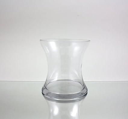 3cae4e73e84 Claro corto Hurricane jarrón portavelas de cristal cóncavo. Abierto  7.   quot