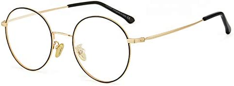 Cyxus(シクサズ)青色光カットメガネ(透明レンズ)PCメガネ 輻射防止 ファッション眼鏡 ステンレス お洒落 男女兼用