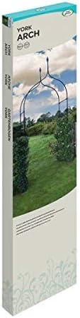 garden Mile Grande 2,4M Decorativo Negro De Metal Jardín Arco Con Doble Gates Resistente Fuerte Tubular Eje Para Rosas Escalada Plantas Soporte ...