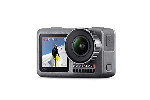 - DJI OSMO Action Cam Digital Camera with 2 Displays 36FT/11M Waterproof 4K HDR-Video 12MP 145° Angle Black