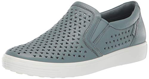 ECCO Women's Soft 7 Slip-On Sneaker, Trooper Laser Cut, 40 M EU (9-9.5 US) from ECCO