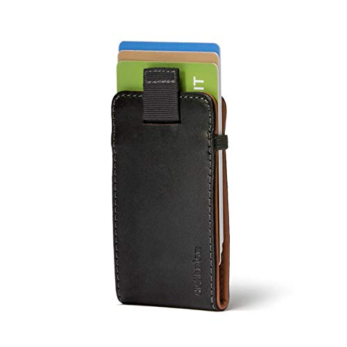 - Distil Union Wally Micro Minimalist Leather Wallets for Men and Card Holder (Ink/Hickory)