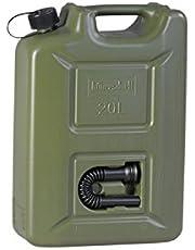 hünersdorff 802010 Brandstofjerrycan Profi 20 l voor benzine, diesel en andere gevaarlijke goederen, UN-goedkeuring, Made in Germany, TÜV-geteste productie, olijf