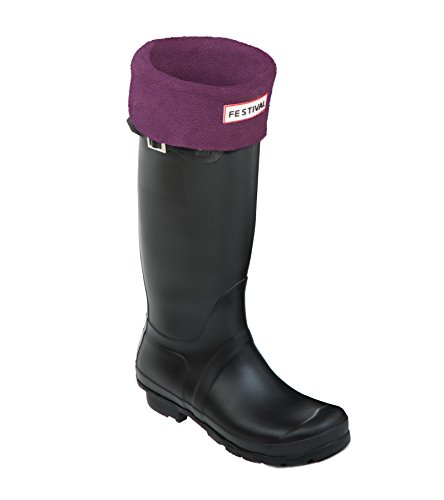 Festival Ladies Original Tall Warm Winter Rain Wellies Wellington Boots Sizes 3-9 UK Black M / Plum 23qzdXa1