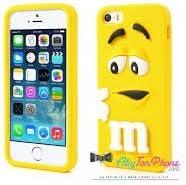 Coque iPhone 5 5G 5S M&M'S Jaune Silicone Etui Housse Bumper Swag ...
