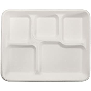 125 Count Durable Eco-Friendly 10  x 8  Bagasse Paper Trays (5  sc 1 st  Amazon.com & Amazon.com: 125 Count Durable Eco-Friendly 10