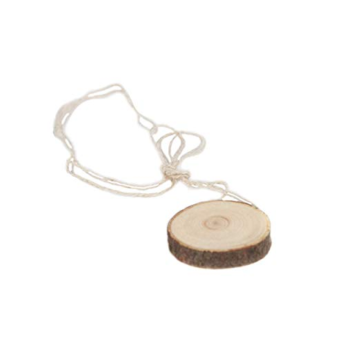 Megre LLC Handmade Siberian Cedar Pendant with Bark Symbol of Love, Purity and Nature.