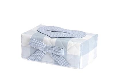 Therese Accessoires Rosetta – Funda para toallitas de bebé (17 x 9 cm, azul