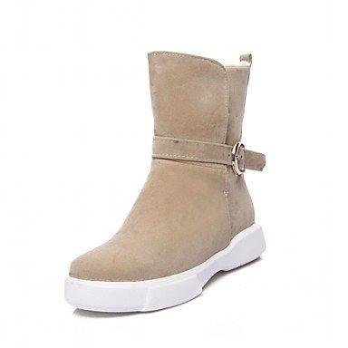 hasta Hasta Heart Almond Invierno Plano Mujer amp m Botines El Tobillo  Innovador Otoño Zapatos Dedo Semicuero Tacón Botas ... 102049eebab