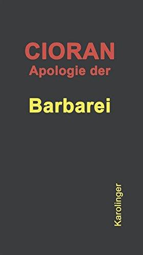 Apologie der Barbarei