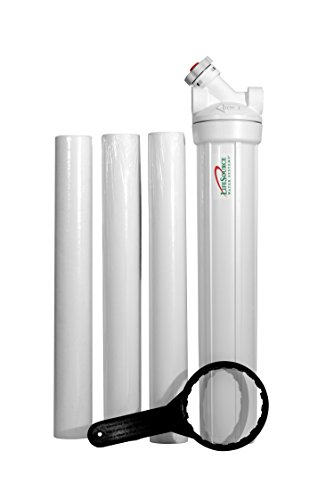 LifeSource Water Systems - 5 Micron Home Sediment Water Filter Cartridges and Housing - Replacement Cartridges - 20
