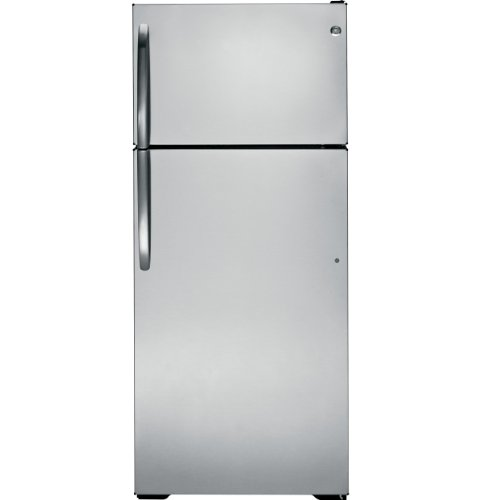 UPC 084691251262, GE GTZ18GBESS 18.1 Cu. Ft. Stainless Steel Top Freezer Refrigerator - Energy Star