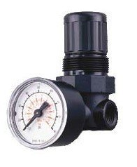 Amflo 4100D 1/4 NPT Knob Adjustable Mini Body Air Regulator for Compressed Air System with Gauge by Amflo