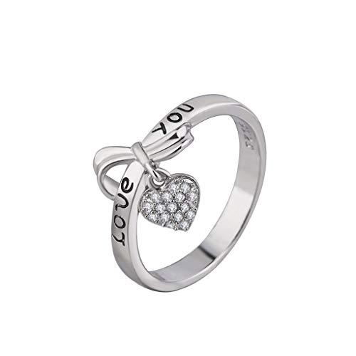 [해외]2019 새로운 여성 사랑 반지 심장 반지 사랑 커플 보석 지르코늄 링 발렌타인 데이 선물 여자 친구 남자 친구 / 2019 New Women Love Ring Heart Ring Love Couple Jewelry Zirconium Ring Valentine`s Day Gifts for Girlfriend Boyfriend