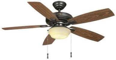 Hampton Bay Gazebo II YG188-NI 52″ Easy to Assemble Natural Iron Indoor/outdoor Ceiling Fan