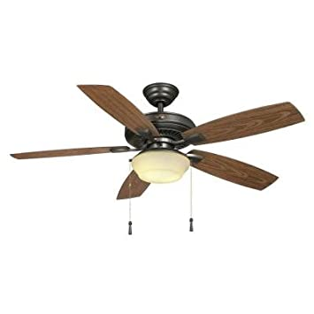 Hampton Bay Gazebo II YG188-NI 52 Easy to Assemble Natural Iron Indoor outdoor Ceiling Fan by Hampton Bay