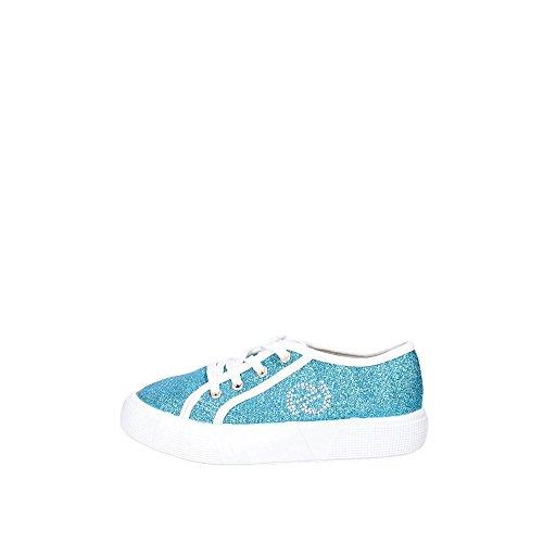 byblos SHB224 Niedrige Sneakers Mädchen Hellblau