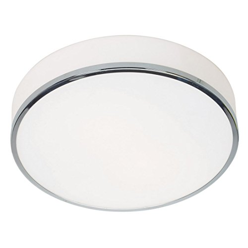 Aero – 3-Light 16″dia Flush Mount – Chrome Finish – Opal Glass Shade