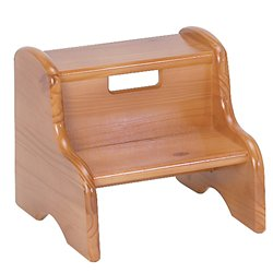 Kid's Solid Wood Step Stool Finish: Honey Oak, Customize: Yes, Letter Color: (Honey Pine Baby Furniture)