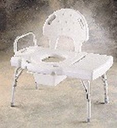 (Invacare Adjustable Transfer Bench w/Built-in Commode)