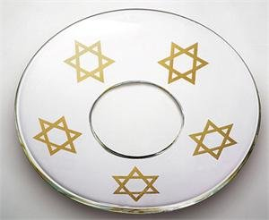 Bobeche Star of David Clear Lm-02104 SET OF 2
