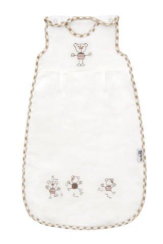 Slumbersac - Saco de dormir para bebés prematuros con diseño de osos (para todo el año, 2,5 tog, 50 cm), color blanco: Amazon.es: Bebé