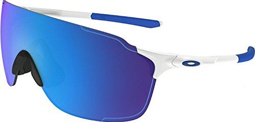 Oakley Men's Evzero Stride (a) Non-Polarized Iridium Rectangular Sunglasses, Polished White, 38.01 - Sunglasses Small Fit Oakley