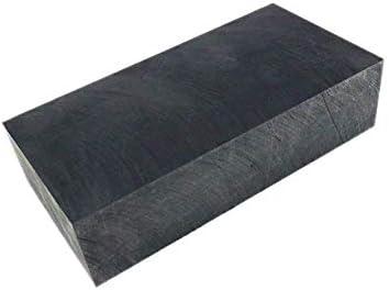 SOFIALXC Graphitplatte, Graphitblock mit 99,9% Reinheit, mit hoher Reinheit Dichte, Zähigkeit EDM Graphitplattenfräsoberfläche 100x50x20mm