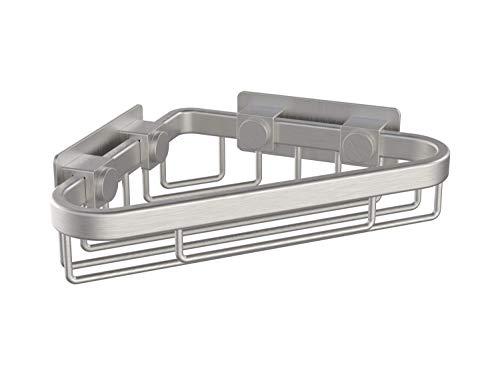 (WingIts WCBSN6 6-Inch Long Corner Shower Basket, Satin Nickel Stainless Steel)